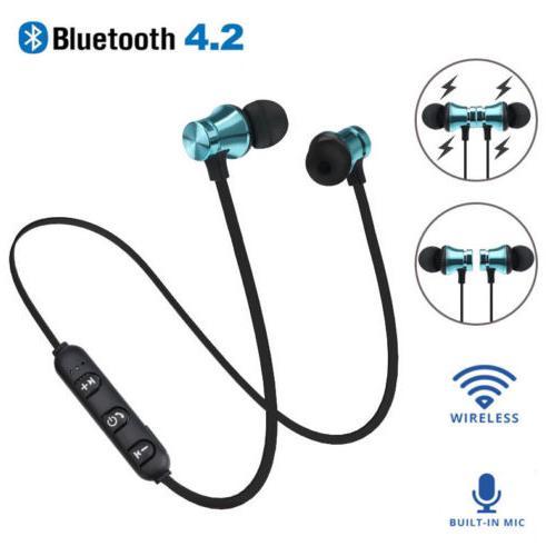 Tai nghe Bluetooth 4.2 không dây âm thanh Stereo có nam châm