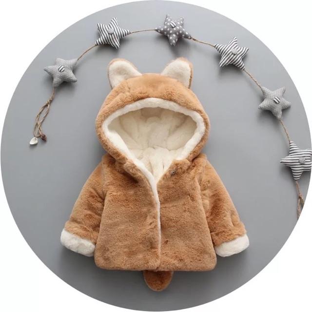 Áo khoác lông chồn cho bé trai bé gái