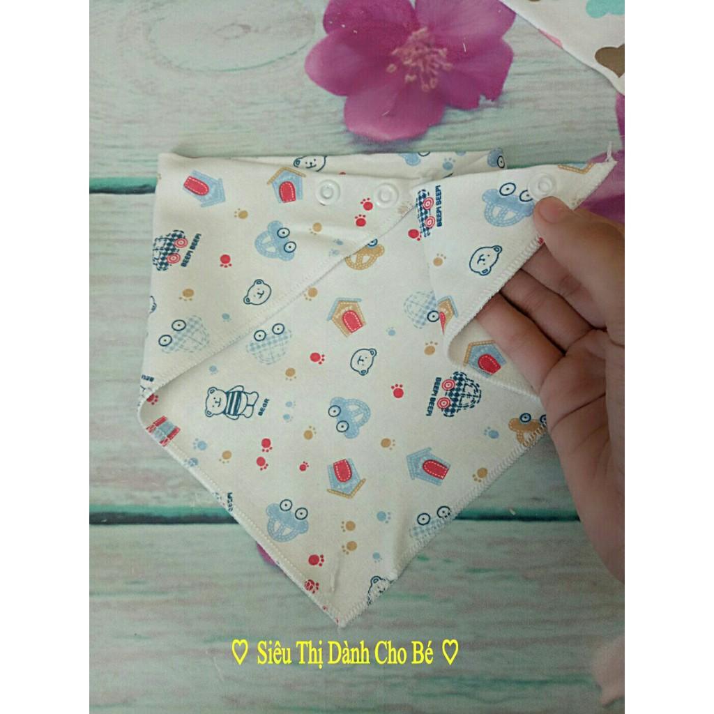 Sỉ - Yếm tam giác cotton cúc bấm cho bé