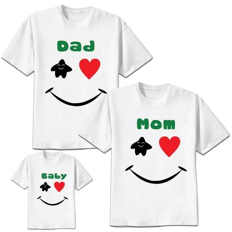 set áo gia đình chibi mặt cười:3 áo Áo gia đình