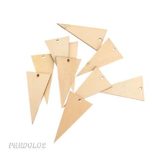 20pcs Geometric Wood Shapes for Crafts Wood Charms DIY Woodcrafts Decoration