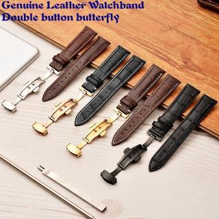 Dây đeo đồng hồ bằng da lộn cỡ 16 18 19 20 21 22 23 24mm chất lượng cao với khóa bướm sành điệu