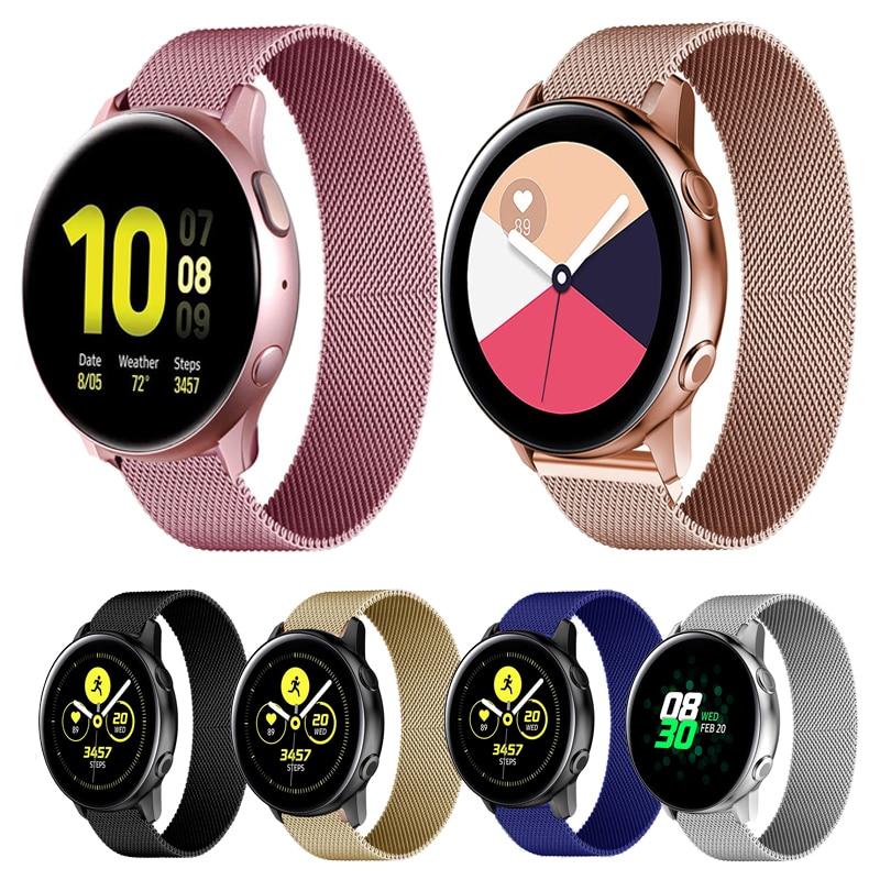 HUAWEI Dây Đeo Inox Khóa Nam Châm 18mm 20mm 22mm Cho Đồng Hồ Thông Minh Samsung Galaxy Watch 42mm 46mm Active 2 40 / 44 Gear S3