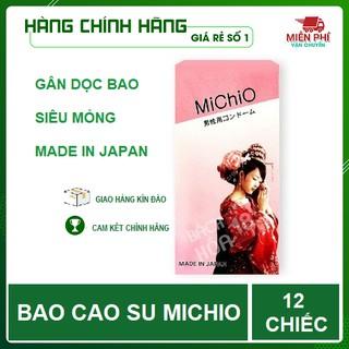 [CHÍNH HÃNG] Bao Cao Su MICHIO,Nhật BẢN,(12bao Hộp),BAO CAO SU MICHIO Gân gai,Không mùi,ôm gọn bó sát_Cảm xúc thăng hoa thumbnail