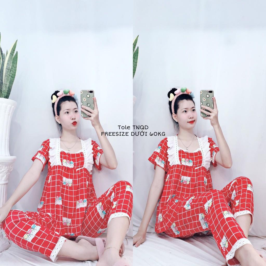 Bộ pijama chất lụa đẹp, tay ngắn quần dài