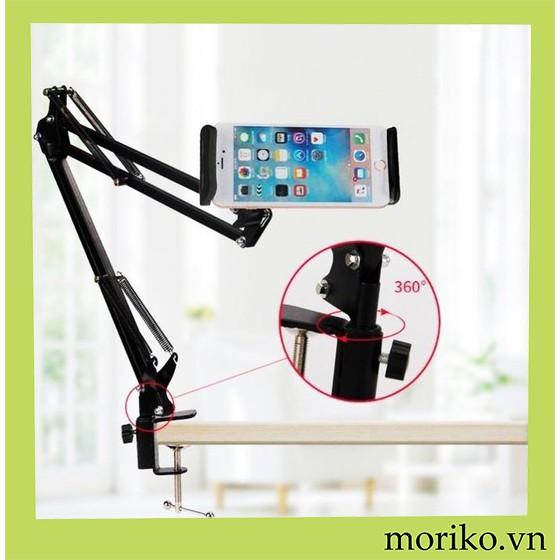 Giá kẹp điện thoại, ipad thông minh, kẹp đầu giường, bàn có khớp xoay gấp mở tùy ý tiện lợi - GD165