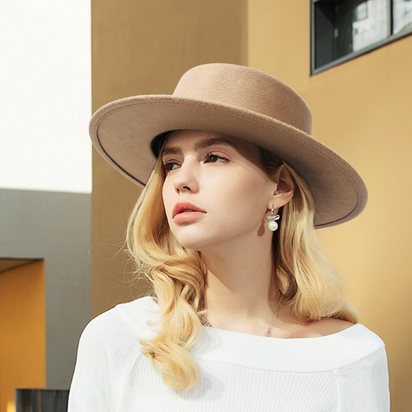 Mũ Rộng Vành Phong Cách Vintage Có 9 Màu Lựa Chọn