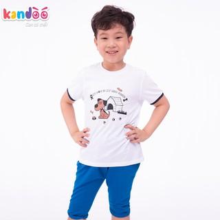Áo T-shirt bé trai KANDOO, in hình đáng yêu thoải mái hoạt động, 100% cotton cao cấp mềm mịn, thoáng mát-DBTS1727