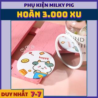 [ ] Gương Trang Điểm Cầm Tay Bò Sữa Phong Cách Ulzzang Hàn Quốc - Mini Round Miror Korea s Style thumbnail