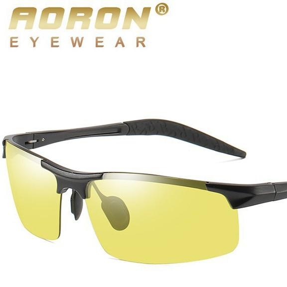 Kính Đi Đêm Cao Cấp AORON 8177, Kính mắt thời trang Aoron