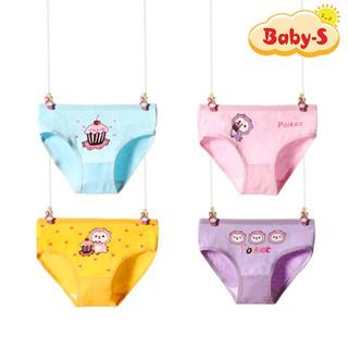 Quần lót cotton hình thú mềm mại thoáng khí cho bé gái 2-12 tuổi chất đàn hồi họa tiết thú ngộ nghĩnh Baby-S – SC020