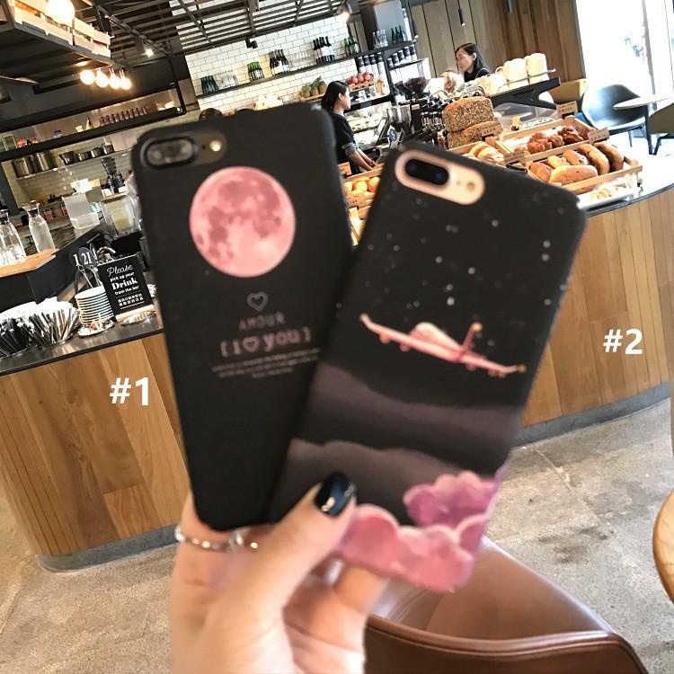 Ốp lưng điện thoại nhựa cứng iPhone 6 6s 7 8 X Plus 7Plus hình bầu trời lãng mạn