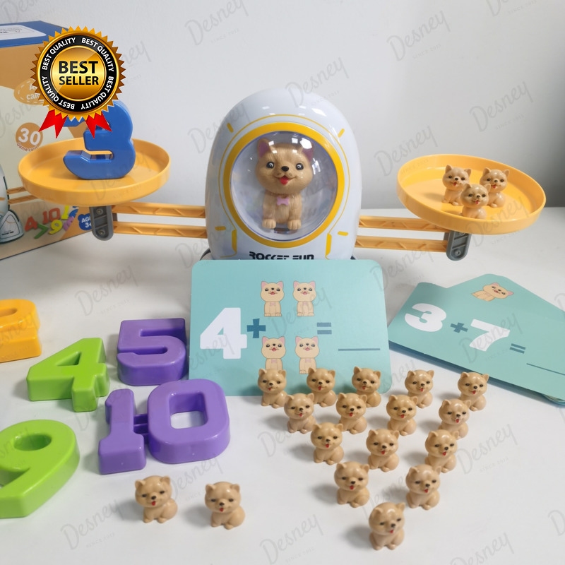 Digital Dog Balance Scale Educational Math Number Board Game Kids Early Educational Learning Toys