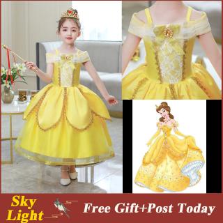 Đầm hóa trang công chúa Belle xinh xắn dành cho bé gái