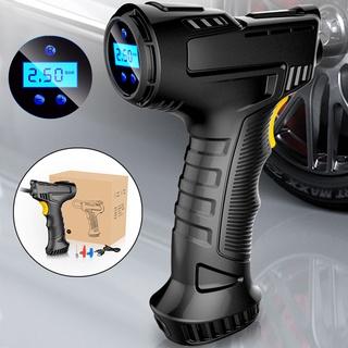 không dây Bơm lốp ô tô xe máy,bơm xe đạp không dây thông minh áp suất lớn, màn hình hiển thị LCD, tự ngắt khi đủ áp suất thumbnail