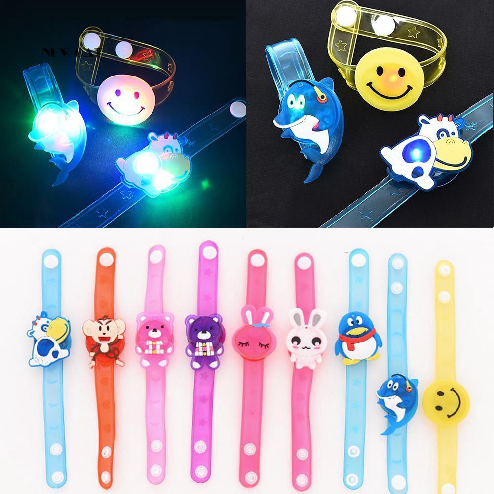 ღNK_1Pc Lovely LED Cartoon Angry Birds Doraemon Glowing Kids Wristband Bracelet Gift