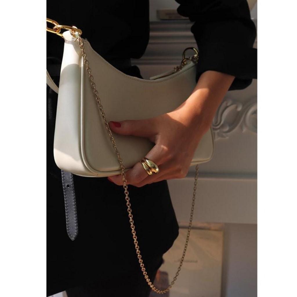 (Sẵn Hàng) Túi Kẹp Nách Nữ Vintage Hottrend KR 180- 2 Màu Lựa chọn, Chất liệu cao cấp, Có 2 Dây- KARA 180
