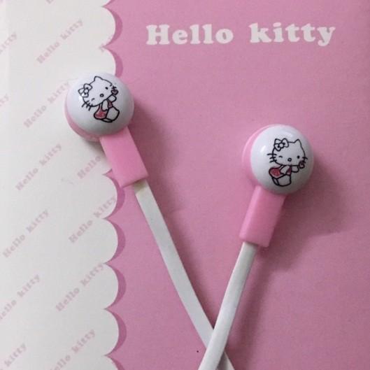 Tai nghe nhét tai Hello Kity Thời trang Hàn Quốc cho các bạn trẻ