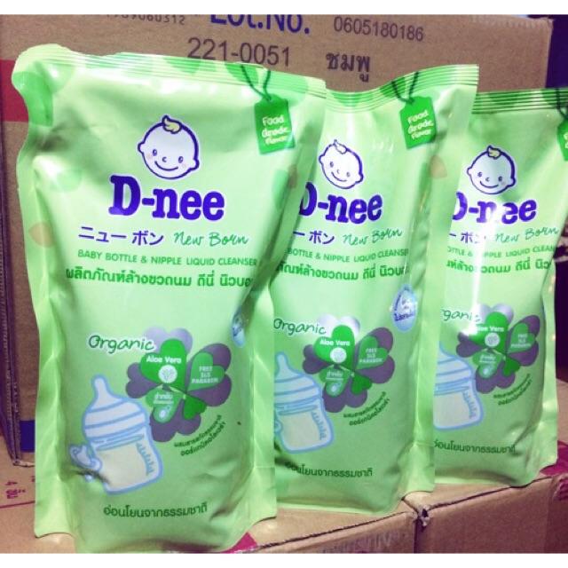 Combo 3 Túi Nuớc Rửa Bình Sữa Dnee Thái Lan 600ml