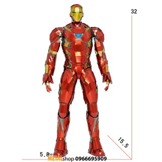 mô hình lắp ráp kim loại iron man mark 46 (mẫu lớn)