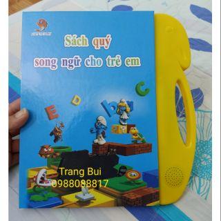 Sách điện tử quý song ngữ anh việt cho trẻ em tặng bút