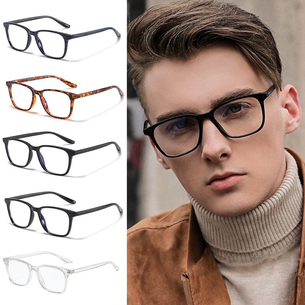 🌵CACTU🌵 Vision Care Blue Light Blocking Cut UV400 Unisex Glasses Computer Glasses Lightweight Retro Frame with Spring Hinges Nerd Reading...