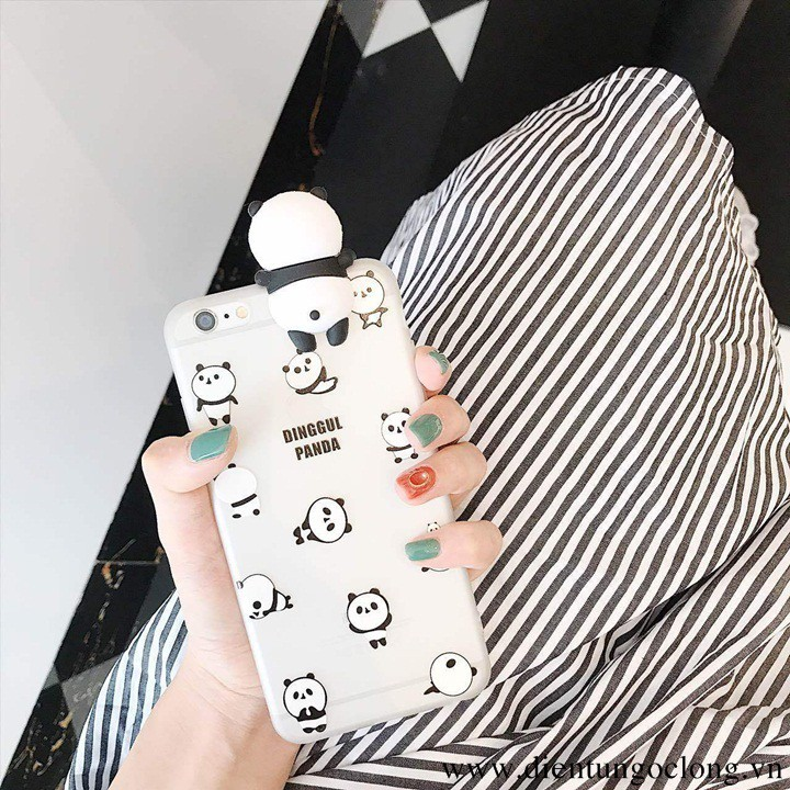 Ốp Lưng Iphone 6 6s Gấu Trúc Cute Silicon