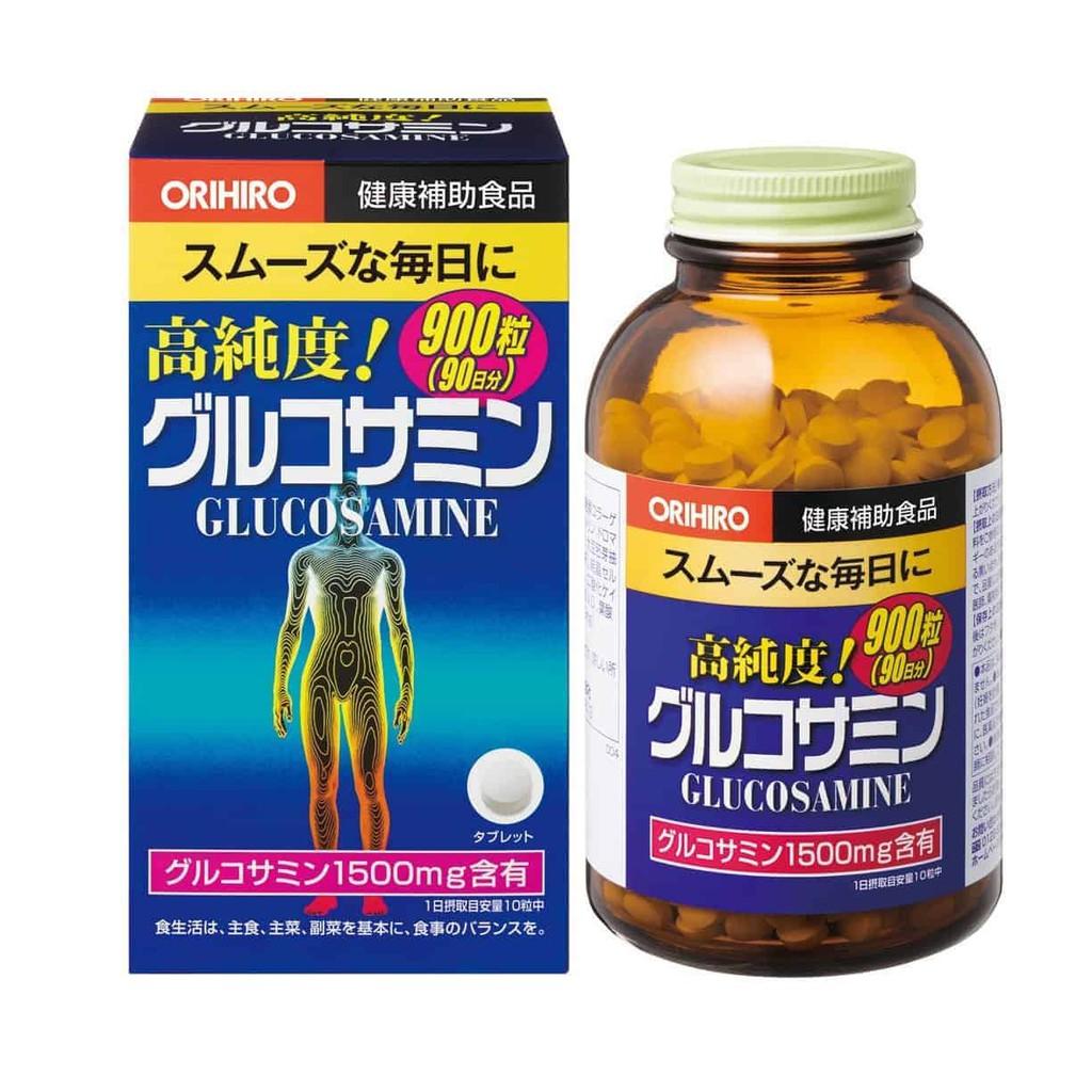 Thực phẩm bảo vệ sức khỏe ORIHIRO High Purity Glucosamine Grain economical Bottle giảm đau xương khớp, 900 viên/hộp