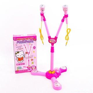 Bộ đồ chơi Microphone hát đôi Hello Kitty[Tmarkvn]