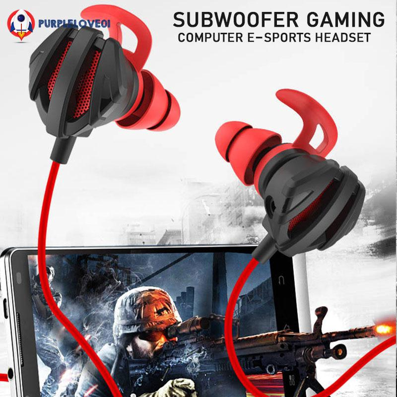 Game Earphone Portable Stereo Computer with Microphone Earphone PUBG Giá chỉ 101.362₫