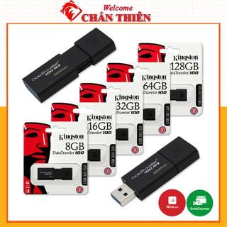 [Mã ELFLASH5 giảm 20K đơn 50K] [Tốc Độ 3.0] USB Kingston 128GB 64GB 32GB Vỏ Tĩnh Điện - Siêu Bền - Màu Đen Lịch Lãm