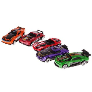 5 Pieces Mini Model Car Racing Alloy Pull Back Toy Gift Kids Collection – # 2