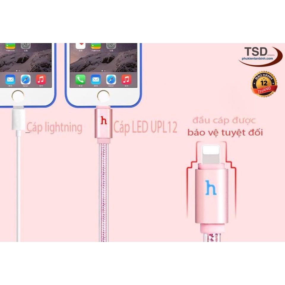 Cáp Lightning Hoco UPL12 ✓Đèn Led Báo Sạc Đầy ✓ Cáp iPhone Hoco UPL12 Chính Hãng