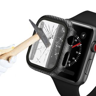 Vỏ Apple Watch Case Hard PC Cover với kính cường lực Bảo vệ toàn màn hình 38/40/42/44mm cho iWatch Series SE 6/5/4/3/2/1