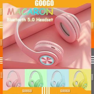 Tai nghe không dây Macaronc Colourful 5.0 Wireless Tai nghe Bluetooth HiFi Stereo Tai nghe không dây có micrô Tai nghe