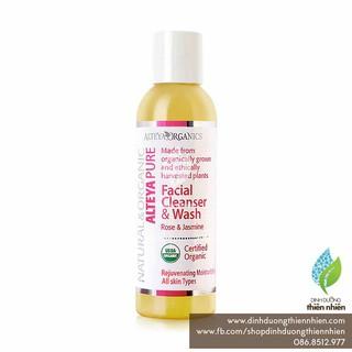 Sữa Rửa Mặt Hoa Hồng & Hoa Nhài Hữu Cơ Alteya Organics Facial Cleanser & Wash, Rose & Jasmine, 150ml thumbnail