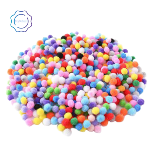 500 Pcs 10mm Soft Round Fluffy Pompoms Ball Mixed Color DIY Decoration Craft Making and Hobby Supplies