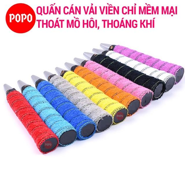 Quấn cán cầu lông chất liệu vải viền chỉ POPO GY110 thoáng khí, thoát mồ hôi, độ bám cao