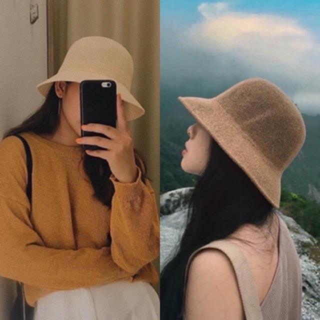 Mũ cói Hàn quốc xinh xắnn