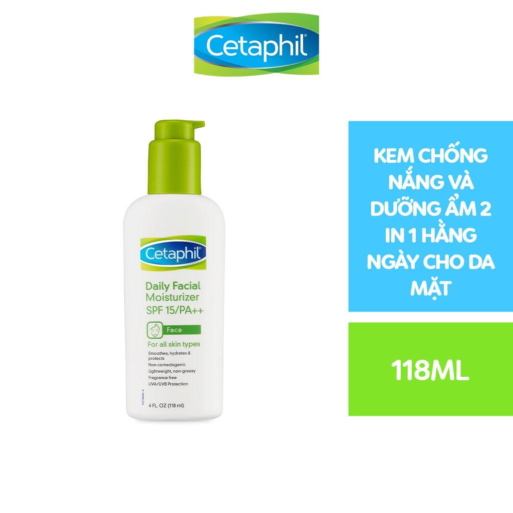 Chống nắng dưỡng ẩm hàng ngày cho da mặt Cetaphil Daily Facial Moisturizer 118ml SPF15/ PA++