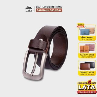 Thắt lưng nam thời trang da bò thật LATA TL245