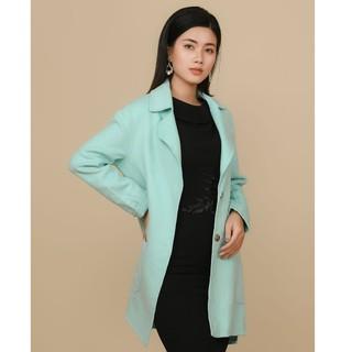 Áo khoác măng tô xanh túi ốp Elise thumbnail