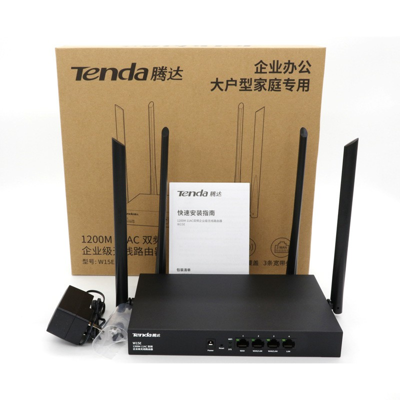 Bộ phát WIFI Tenda W15e ac1200Mps mạng doanh nghiệp 50 user – vùng phủ sóng  300m2 – nhập khẩu