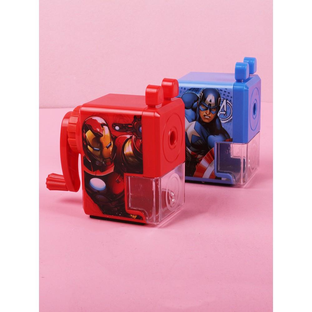 Captain America Pencil Sharpener Male Pencil Sharpener Primary School Children Multi-function Automatic Lead Hand-cranke