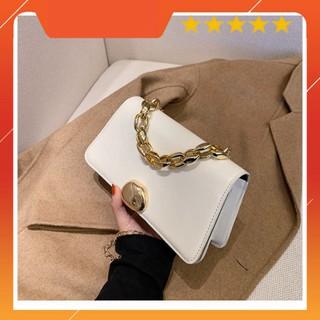 Túi xách nữ, túi đeo chéo da trơn khóa tròn thời trang Hàn Quốc siêu xinh TX28  - Chip Xinh