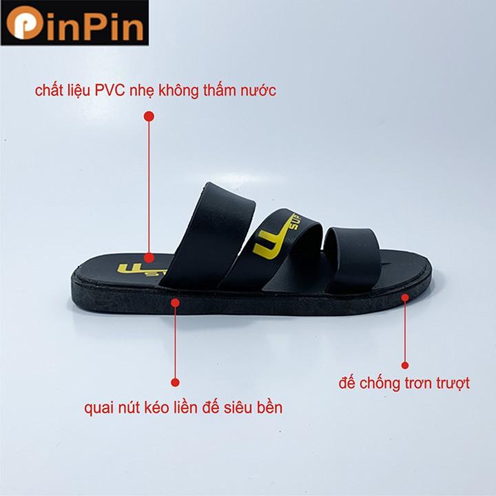 Dép nam đẹp PinPin chất liệu pvc nhẹ đa năng đế chống trơn không thấm nước - hh013