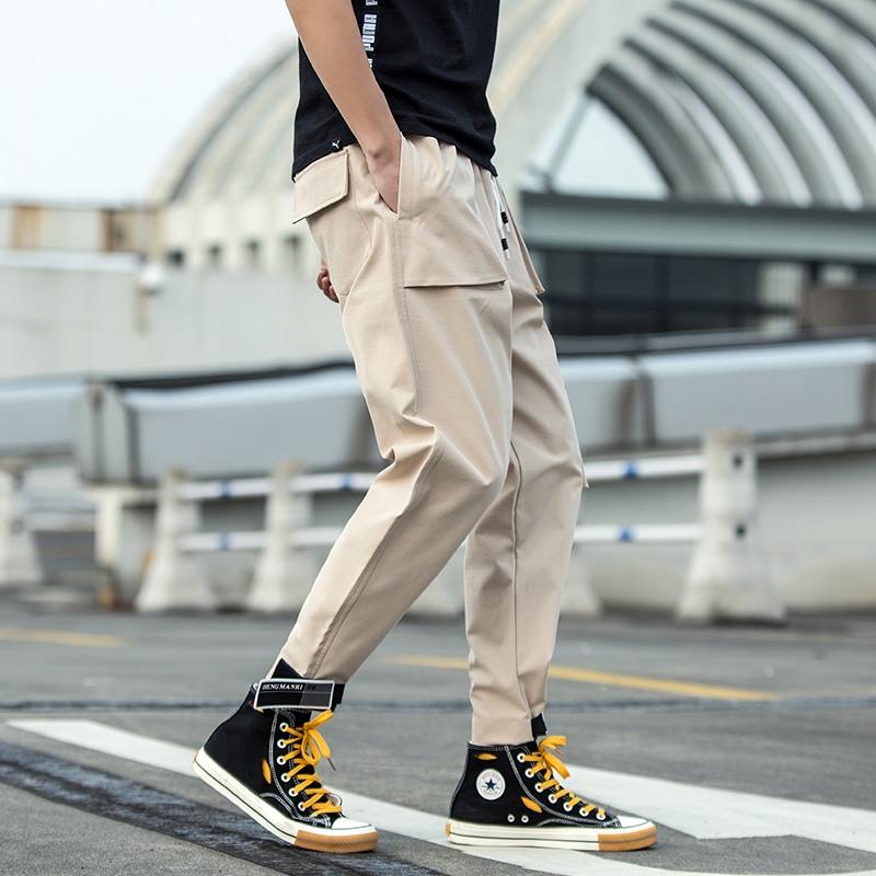 nine-point pants casual trousers Pants Men Clothes  self-cultivation men pants  small fresh  trousers