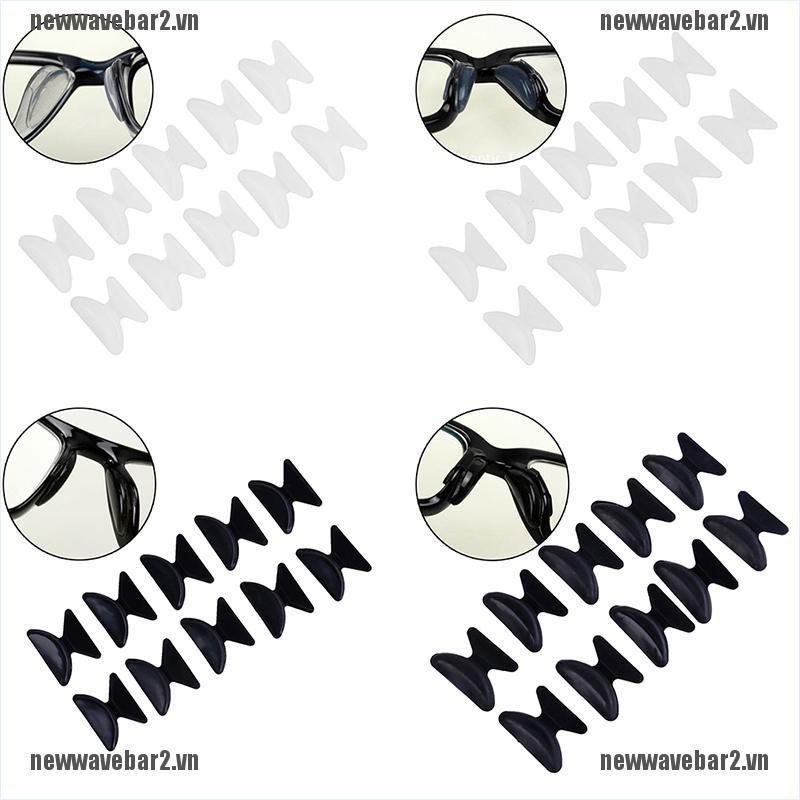 {new2} 5Pairs Glasses Eyeglass Sunglass Spectacles Anti-Slip Silicone Stick On Nose Pad{wave}
