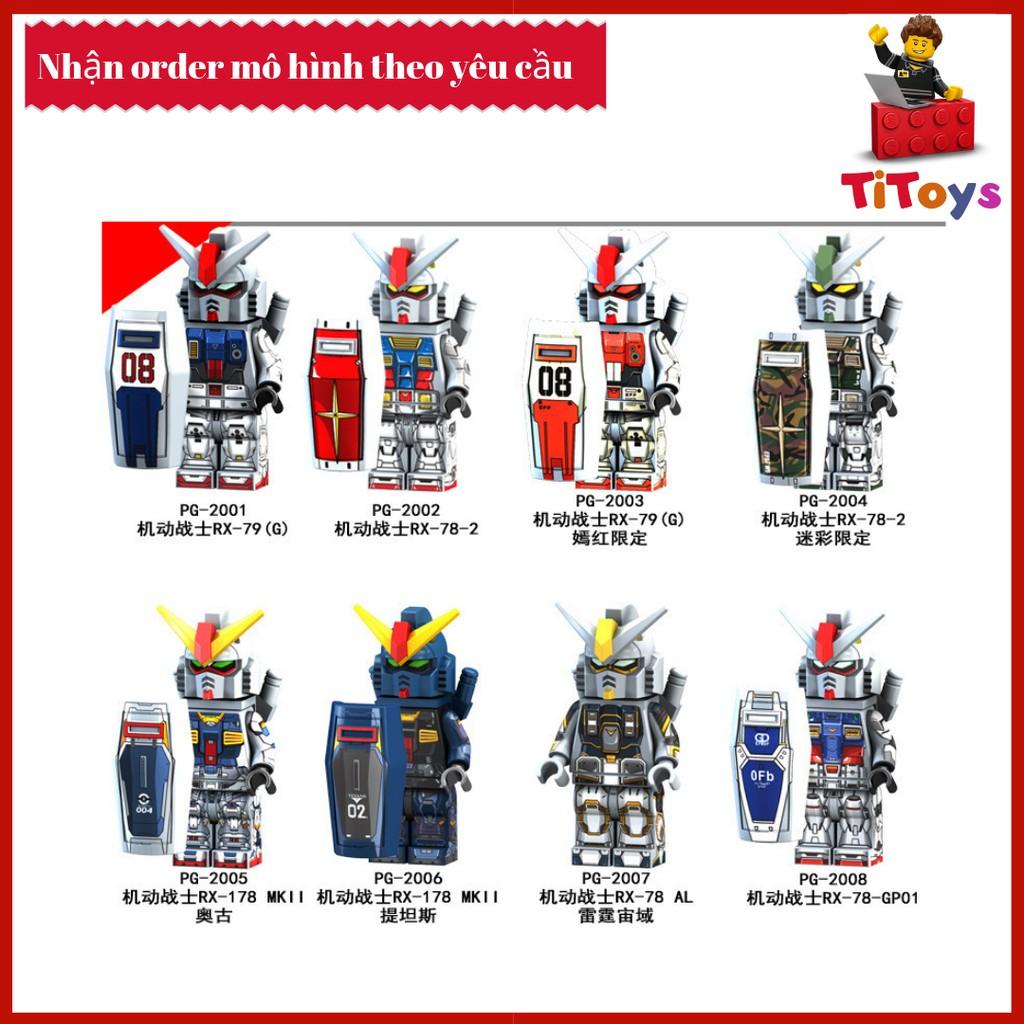 Minifigures các nhân vật Robot siêu nhân RX - Đồ chơi Lắp ghép Xếp hình Non Lego PG8112