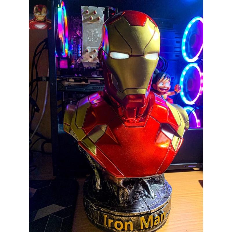 (Hàng HOT) Mô hình tượng bán thân Iron Man Tony Stark MK46 cao 36cm tỷ l
